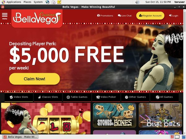 Bella Vegas Signup Bonus Offer