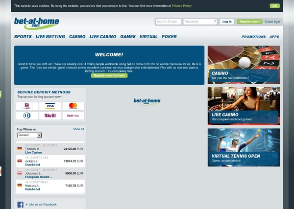 Bet At Home New Account Promo