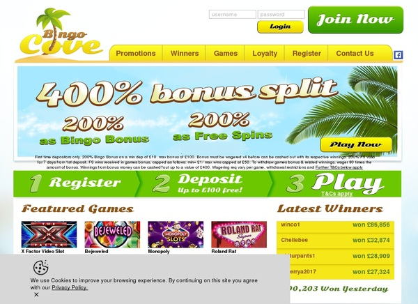 Bingo Cove Games
