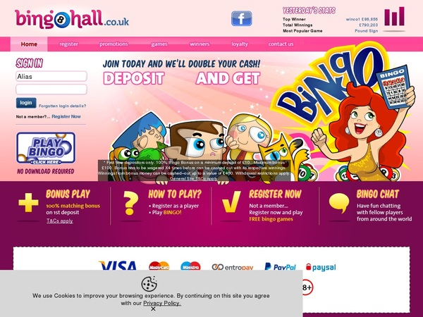 Bingohall Best Gambling Offers