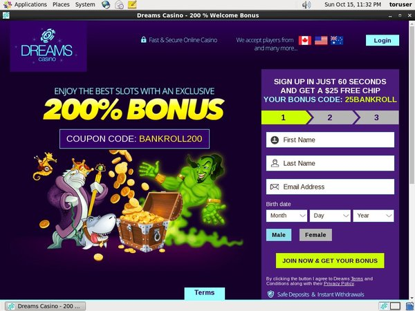 Dreams Casino Bonus Promo