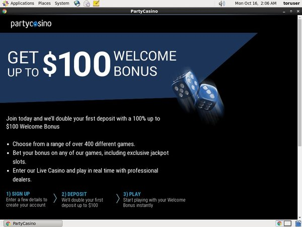Party Casino Welcome Bonus No Deposit