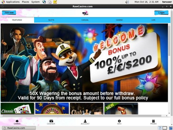 Raw Casino Best Free Bonus