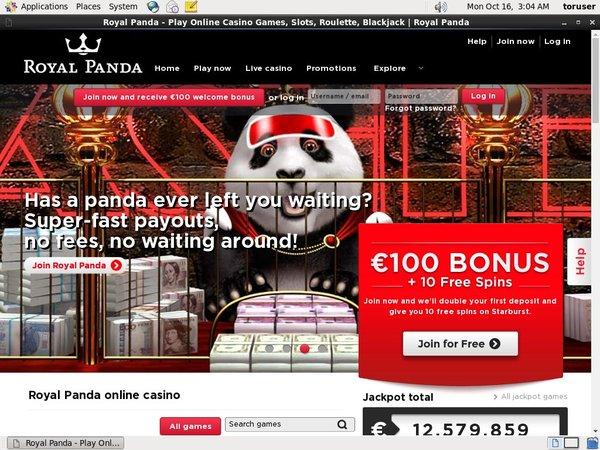 Royal Panda Mobil Casino Bonus