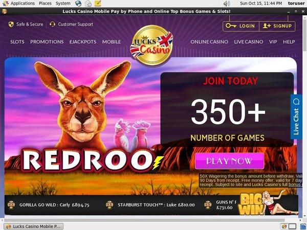 Lucks Casino Bonus Promotion