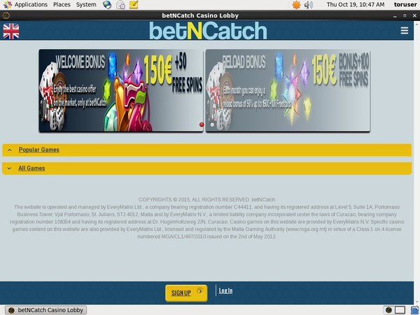 Bet N Catch Welcome Promo