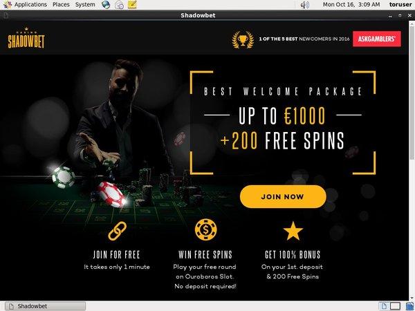 Shadow Bet Casino Free Coupon