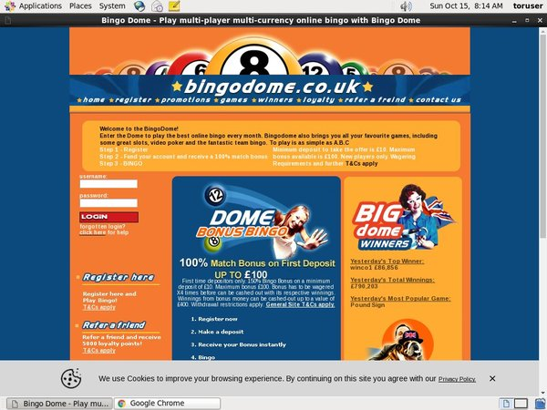 Bingodome Offer Bonus