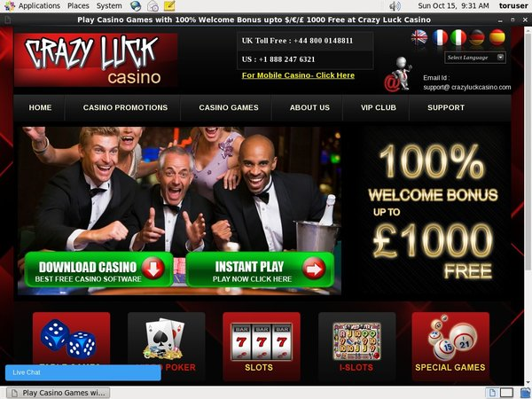 Crazyluckcasino Desktop Site Login