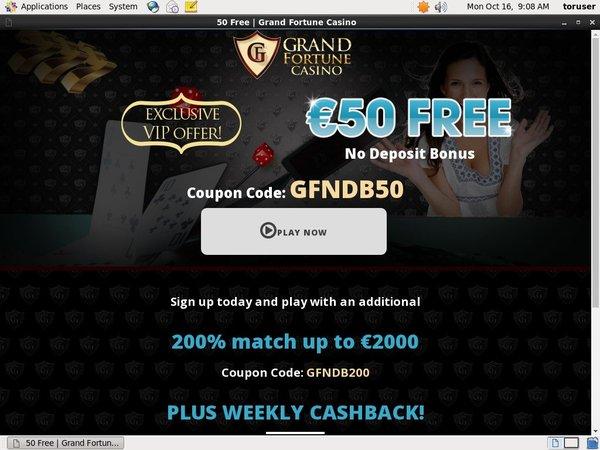 Grandfortune Join Bonuses