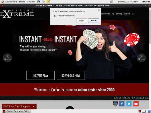 Casinoextreme Willkommens Bonus