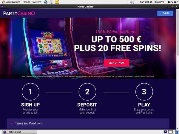 Party Casino Bitcoin Deposit