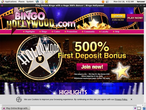 Bingo Hollywood Hent Bonus