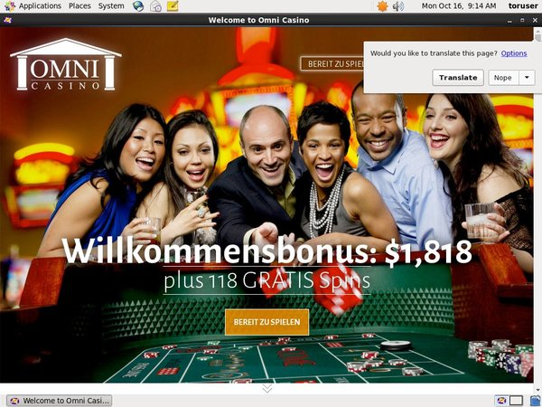 Omni Casino Welcome Bonus Offer