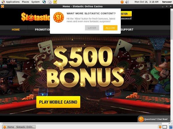 Slotastic Get Bonus