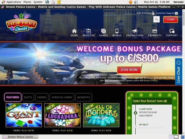 Dream Palace Casino Willkommens Bonus