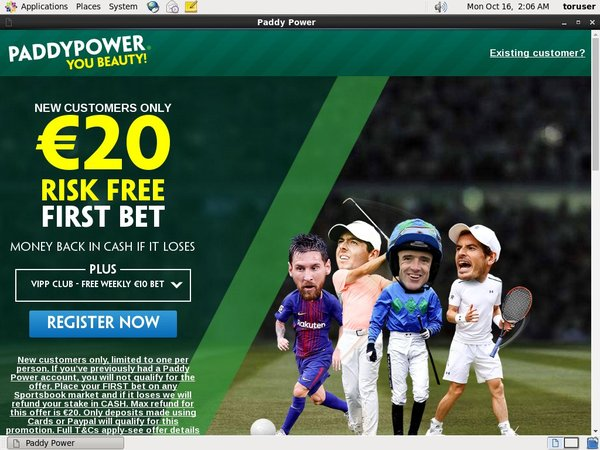 Paddy Power Sports Betting Bet Slip