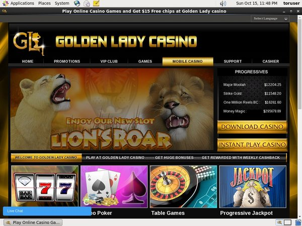 Coupon Golden Lady Casino