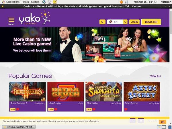 Free Bet Yako Casino