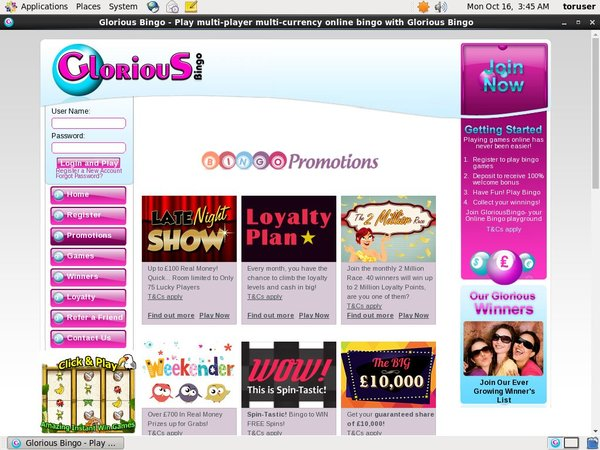 Gloriousbingo Sign Up Bonuses