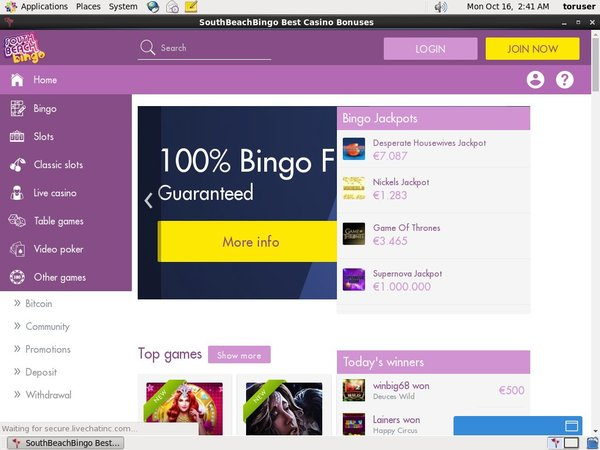 Southbeachbingo Online Casino Websites