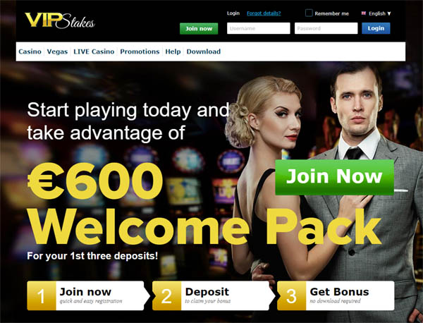 Vipstakes Join Up Bonus