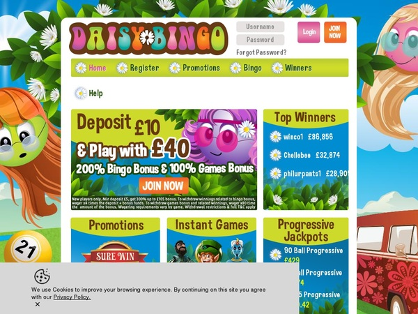 Daisy Bingo Betting Offers
