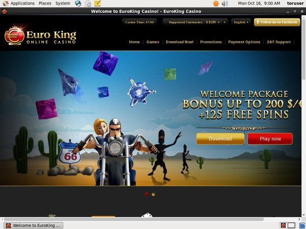 Euro King Casino Join Form