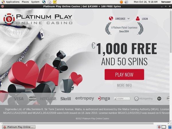 Platinumplay Player Account