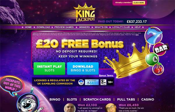 Offer Kingjackpot
