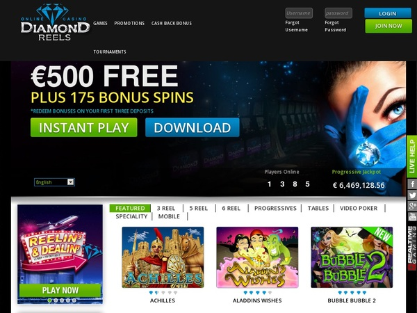 Diamond Reels Casino Gutschein