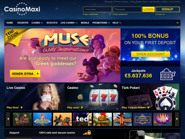 Casinomaxi Welcome Bonus Offer