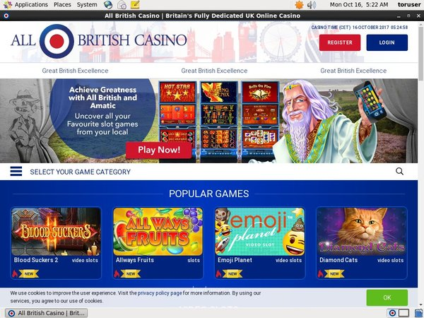 All British Casino 赌场奖金
