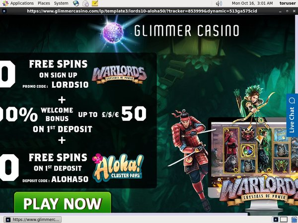 Get Glimmercasino Account
