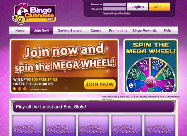Bingoclubhouse Enter Cash