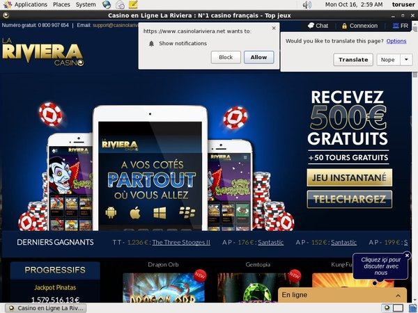 Rivieracasino Entercash