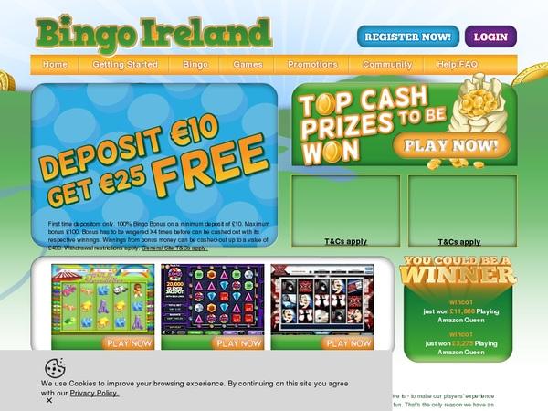 Bingo Ireland Bonuscode