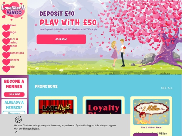 Love Hearts Bingo Online Casino Sites