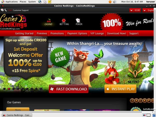 Casino RedKings Sign Up Free