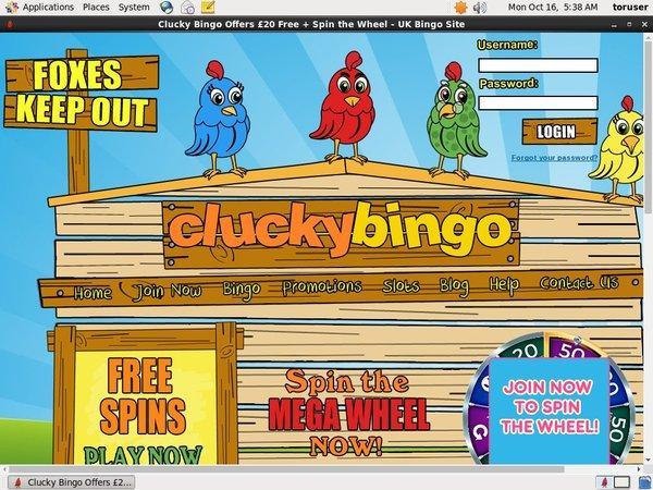 Code Bonus Cluckybingo