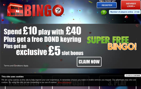 Deal Or No Deal Bingo Online Slots