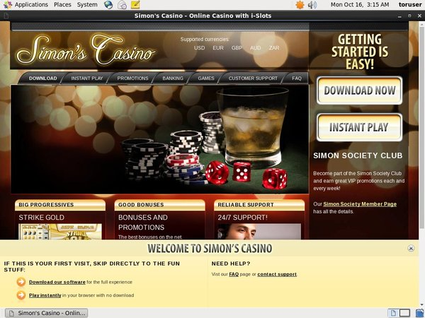 Simon Says Casino How To Register