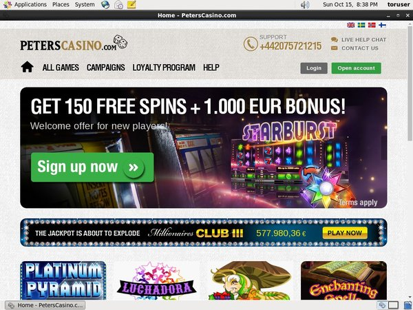 Peterscasino Bonus Terms