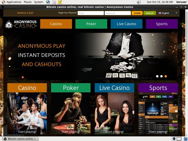 Get Anonymouscasino Account