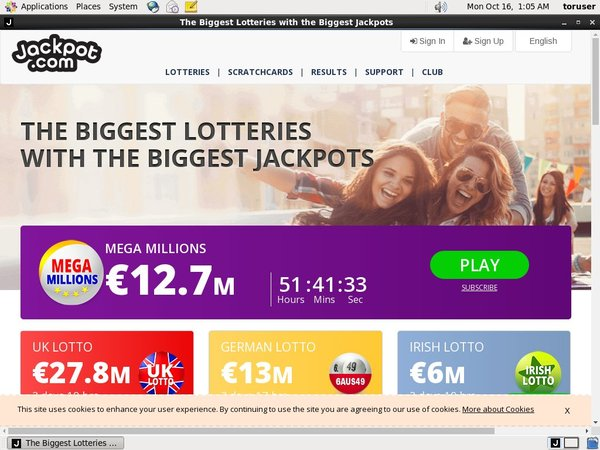 Jackpot.com Registar