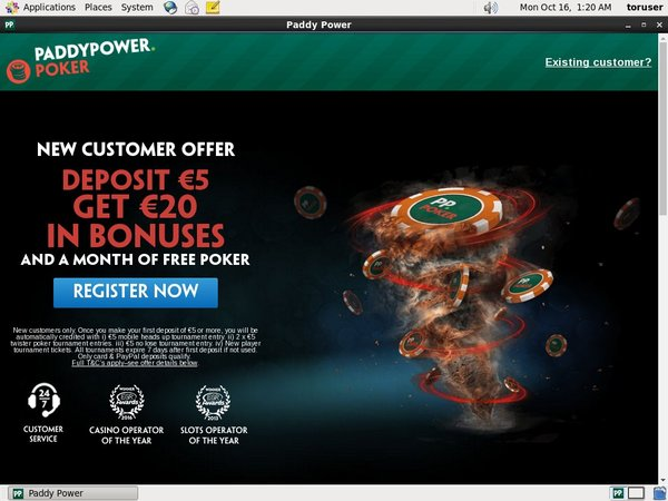 Paddypower New Account Promo